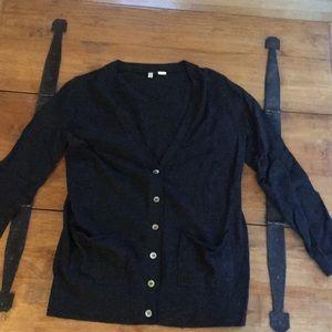 Anthropologie 'Moth' Cardigan Sweater, dark gray